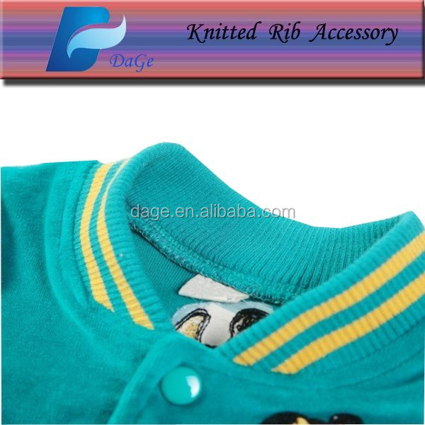 Knit ribbed fabric 2x2 rib for children clothes