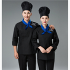 high quality polyester cotton Restaurant Hotel uniforms Women's and men's Chef Coat with custom your logo
