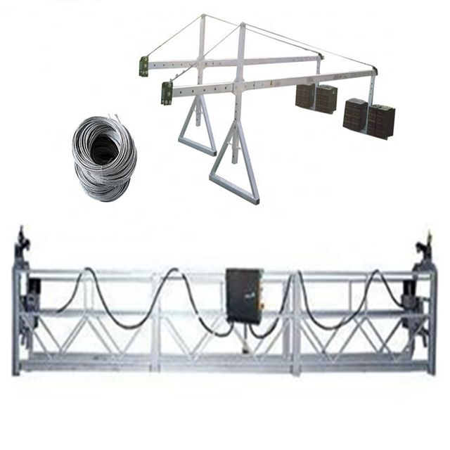 safe and high strength wire rope ZLP800 suspended platform