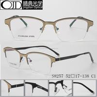 Fashion Round Optical Prescription Glasses Frame Men Women Clear Lens Plastic Titanium and Stainless Steel Eyewear Frame S8257