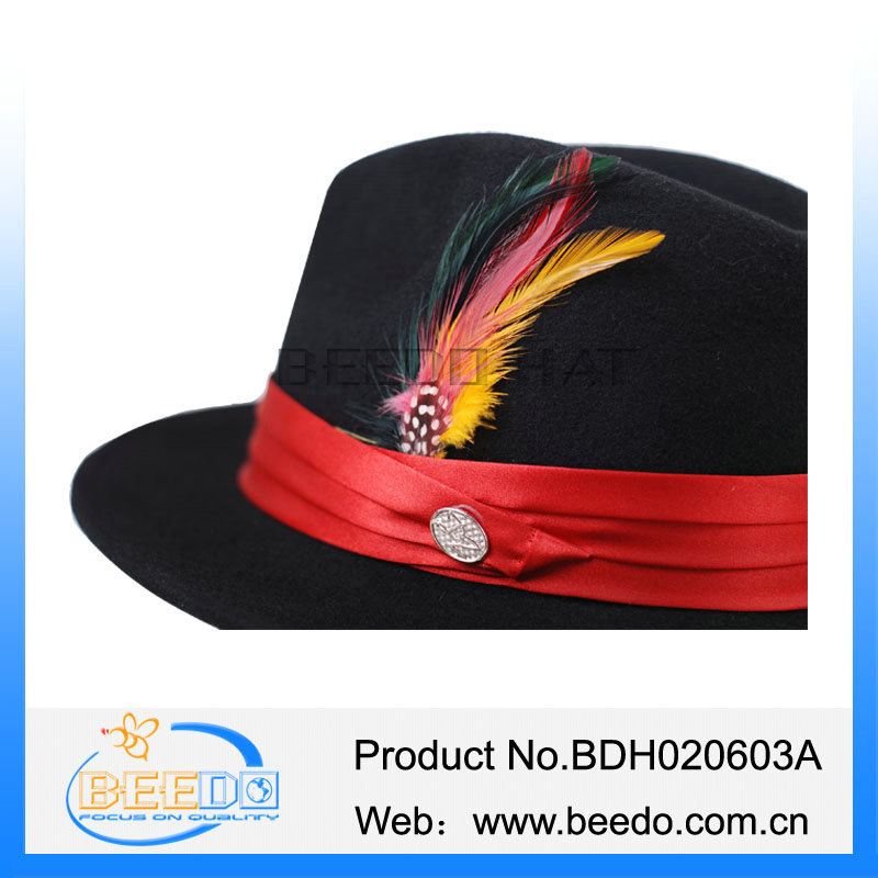 20273ba290 Best Selling Black With Red Band Fedora Hat - Buy Fedora Hat,Black With Red  Band Fedora Hat,Best Selling Black With Red Band Fedora Hat Product on ...
