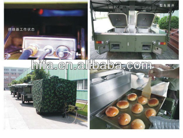 250 persons military mobile cooking trailer