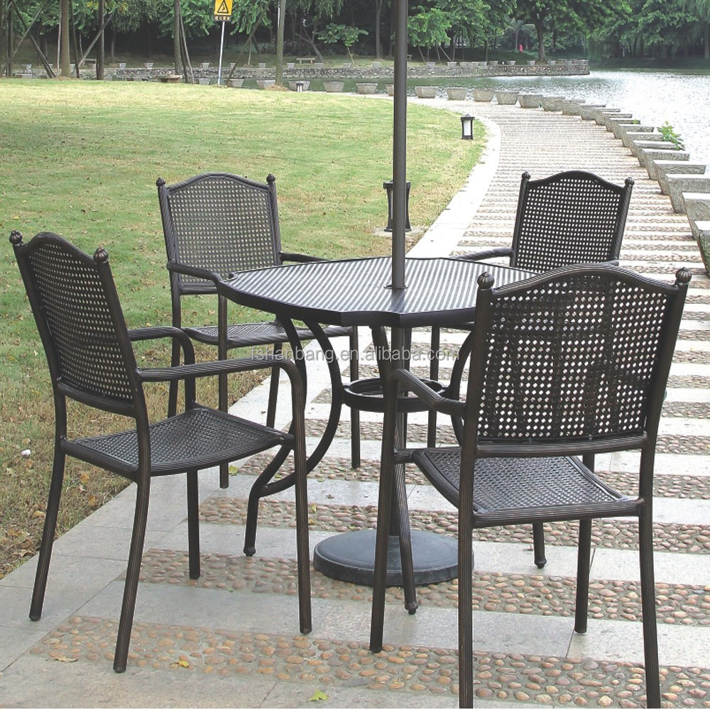 Bronze Black Heb Hexagon Aluminum Outdoor Patio Furniture
