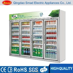 Refrigeration Equipment double glass door supermarket showcase refrigerator/showcase cooler/display case