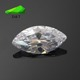 Wholesale 6x12/7x14/8x16mm Marquise Temperature resistant white cubic zircon loose gems