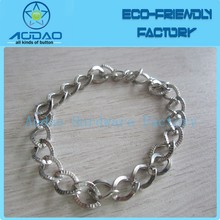 Stainless steel decorative twisted metal link chain factory price