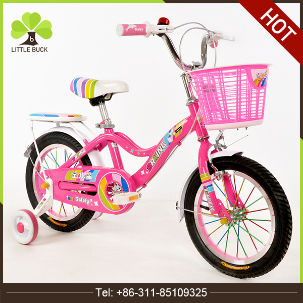 Small lovely new products bike bicycle / 12 inch children cycle model from China / pink color kids bicycle with training wheels