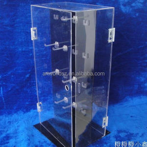 hot sales Countertop rotatable acrylic jewelry display stand with hook