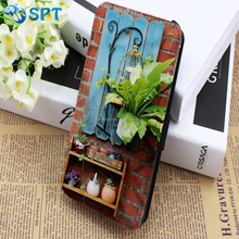 digital printing Leather mobile phone case with business card holder for Samsung Note 3