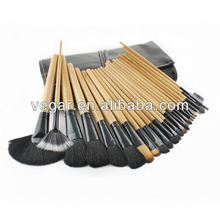 Black classic 24pcs fashionable cosmetic brush japan cosmetic brushes