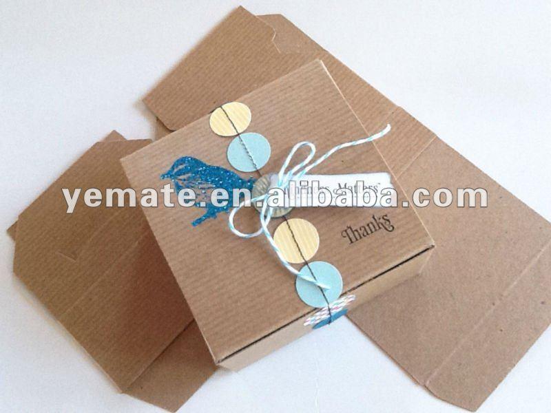 llanura kraft cajas para decorar uso para regalos brown kraft cajas del favor