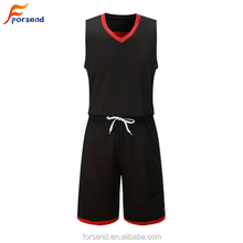 OEM Modische Sublimation neueste schwarz <span class=keywords><strong>basketball</strong></span> jersey uniform design