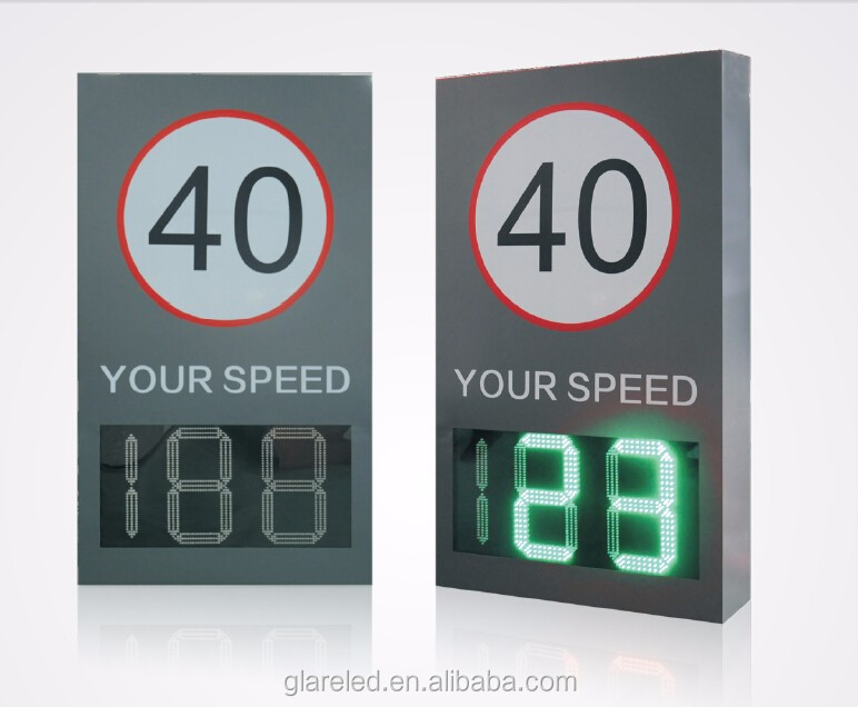 Radar Speed Limit Sign Outdoor LED Car Speed Display Traffic Warning Display