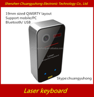Virtual Laser Keyboard/Mini Portable Wireless laser keyboard projector/bluetooth laser virtual keyboard qwerty