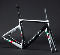 2019 new design T1000 carbon speed racing bike frame with disc brake 3K weave