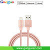 Newest Rose Gold Sync Data Charging 2.4A Nylon MFi Cables Braided, MFi Nylon Usb for IPhone5/6/6s/iPad/iPod