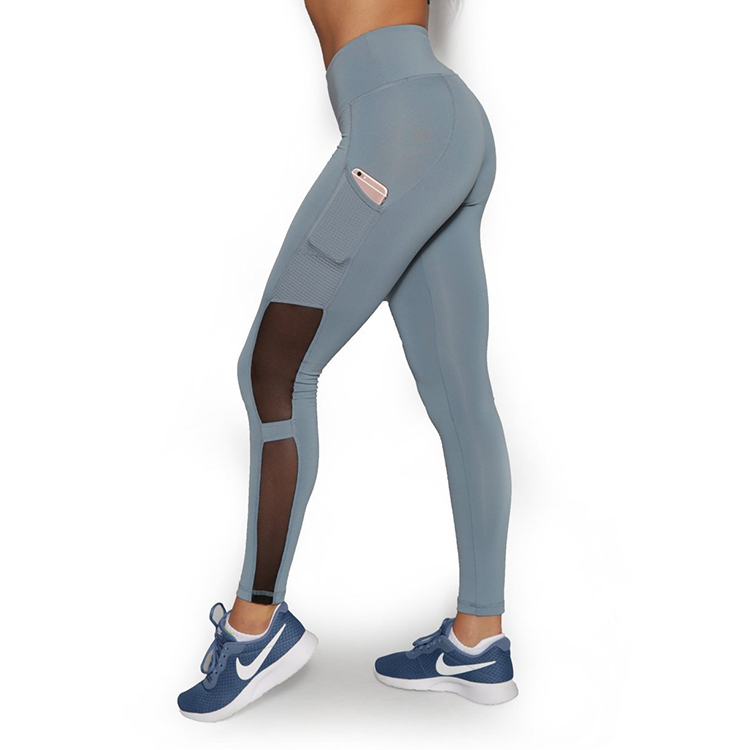 Four way stretch leggings maglia pura tasca laterale pantaloni di yoga dimagrante palestra usura