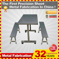 customized school furniture restaurant stainless steel dining canteen table