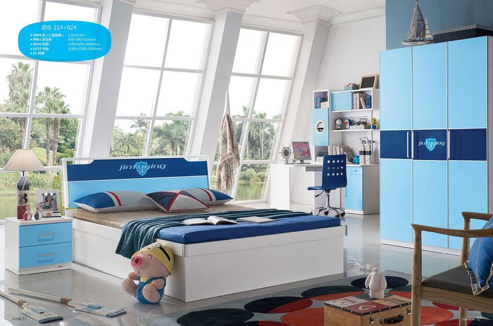 nuevo diseo moderno de moda kids train cama con escritorio y armario