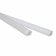 Rosh waterproof led light extrusion plastic profile for Led strip light with full PC plastic diffuser profile