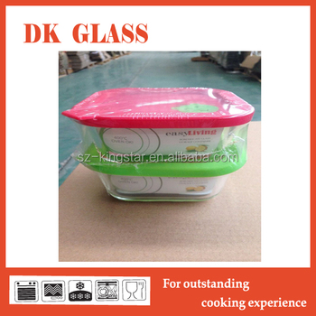 Square Glass Food Containerglass Storage Box Food Container Set