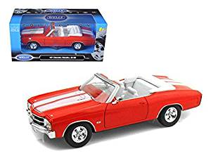 1971 Chevrolet Chevelle SS 454 Convertible Orange 1/24 Model Car by Welly