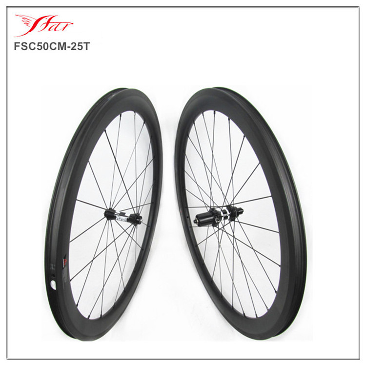 Clincher carbon 30 38 50 60 88 wheels tubeless compatible design, 23/25 width carbon tubeless bicycle wheelset
