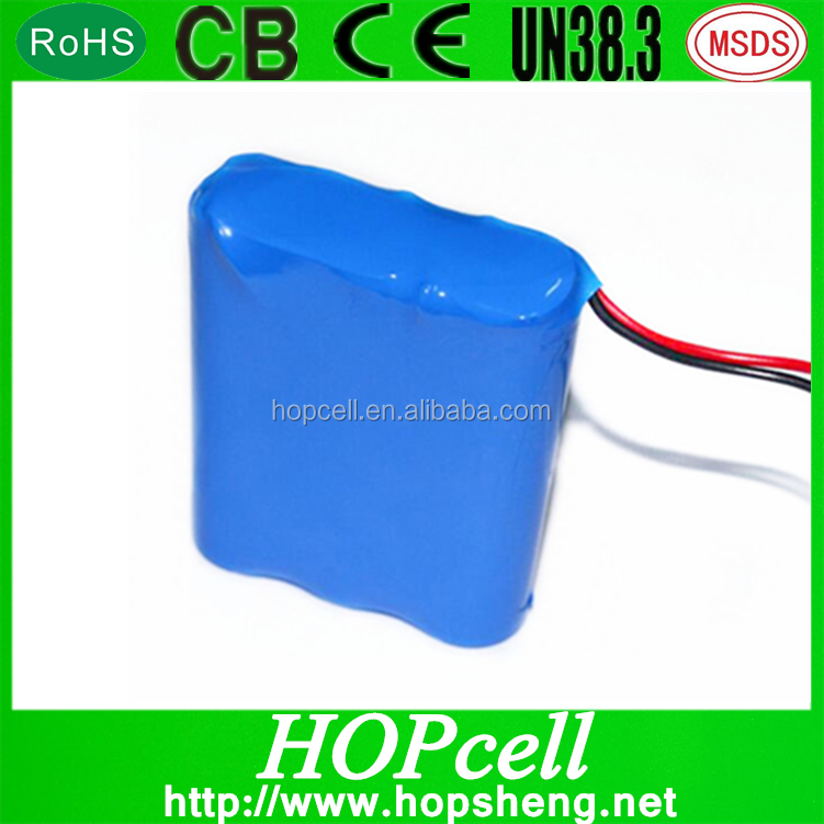 Top Selling 12V Lithium Ion Battery Pack 18650 3.7V For one cell with PCM and Three Line 2200mAh 18650 battery