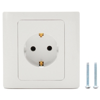 16A EU Plug Socket Power Outlet Panel Wall Sockets Standard Wall Charger Adapter 86 Type Germany Standard