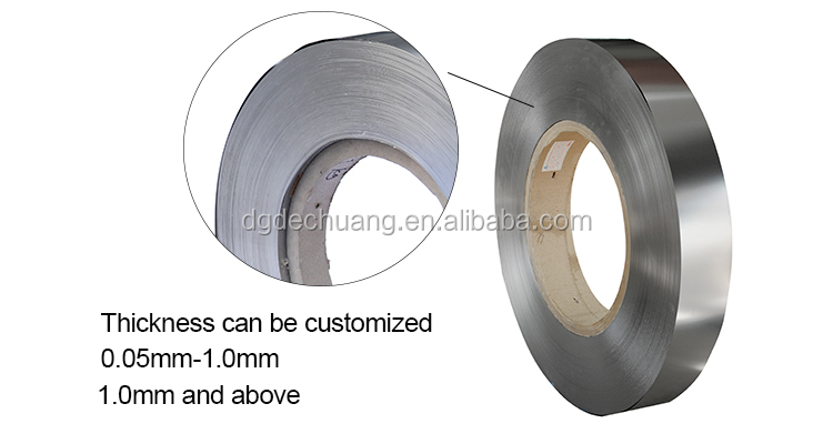 Professional manufacture customized length 0.05mm thickness 301 stainless steel coil