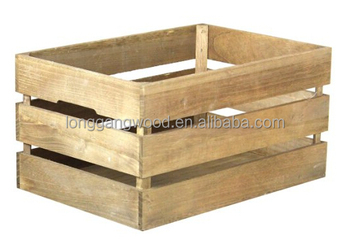 Made in china hot sale wholesale factory price Natural Wood Box Fruit Crate Wooden Vegetable Crates / Storage Crates/wooden box