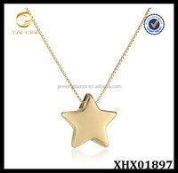 Sterling Silver Box Chain Adjustable Star Pendant Necklace Star Jewelry