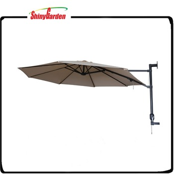 10 Outdoor Wall Hanging Umbrella Cantilever Patio Mounted