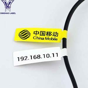 Wholesale strong adhesive plastic vinyl cable marking tags electric wire label