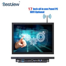 BESTVIEW 17 pulgadas windows7 IP65 Industrial Embedded panel pc táctil