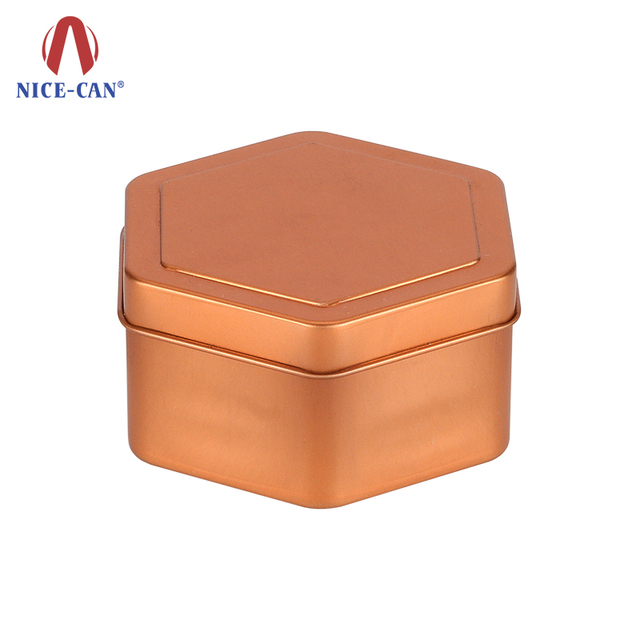 Nice-can special design Hexagon shape metal gift box