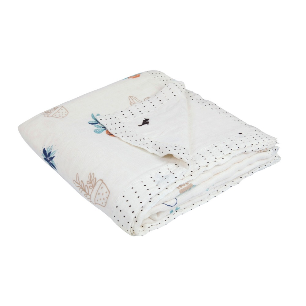 Zogift Factory price baby receiving blankets soft thick cotton blanket for baby