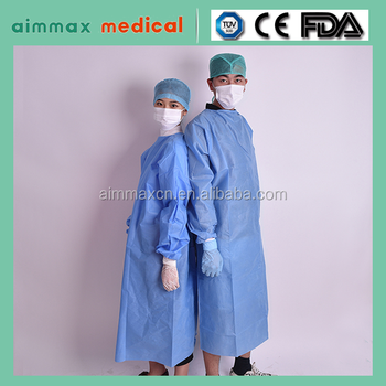 Sterile Isolation Gown Yello/green,Tie-back Disposable Isolation ...