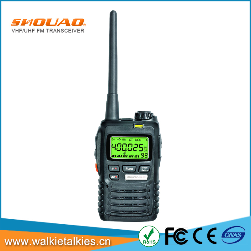 SHOUAO TS-5R cheap and high quality vhf uhf walkie talkie 3W two way radio with texting