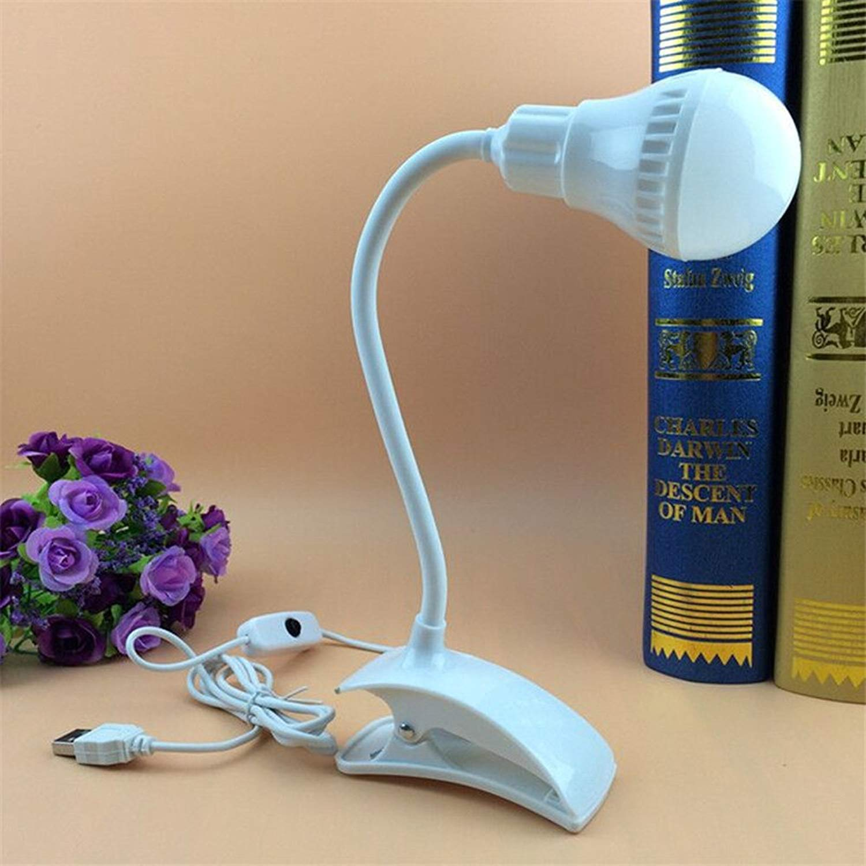Creative Led Desk Lamp Flexible USB Clipper Clip Eye Protection Reading Light Bedside Table Lamp Bedroom Home Living Room Decor