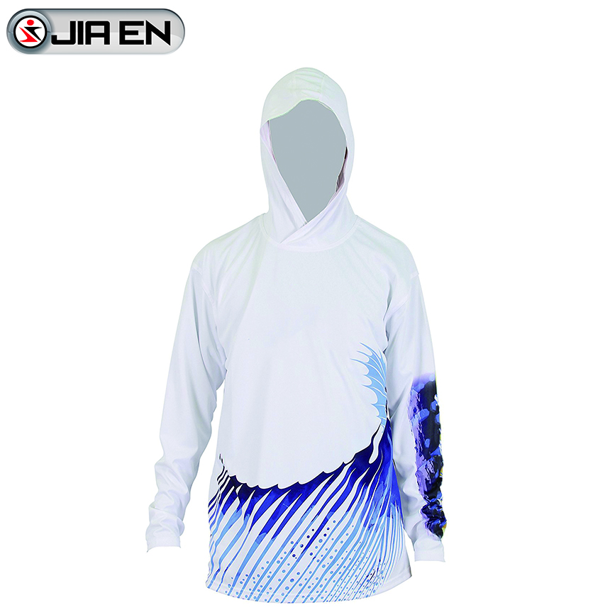 Wholesale sublimation printing fishing shirts custom latest fishing jersey with hoodies