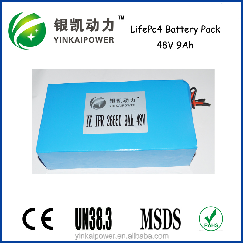 Alibaba usa hot sale, electric scooter, ebike lifepo4 48V 20Ah battery pack