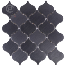 Hot sale black lantern metal inner decoration mosaic tile