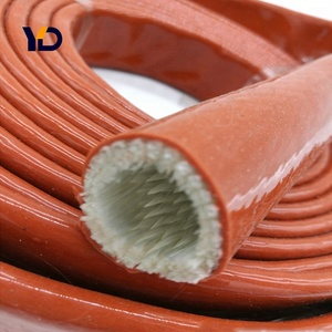 Fire Resistance /Fireproof/heat Resistant Sleeve Fiberglass Silicone Rubber Coated Fire Sleeve