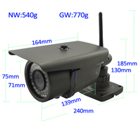 Professional cctv products manufacture, 2.0Megapixel IR Waterproof bullet IP Camera(1080P), Plug and play, support Onvif