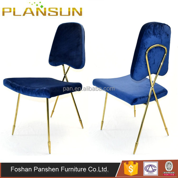 Luxury Modern Furniture Gleaming Brass Gold Steel Lexi Dining Chair