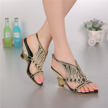 2015 rhinestone sandals styles peacock high-heeled shoes thick thin wedges genuine leather rhinestone female sandals GS-L005BKP