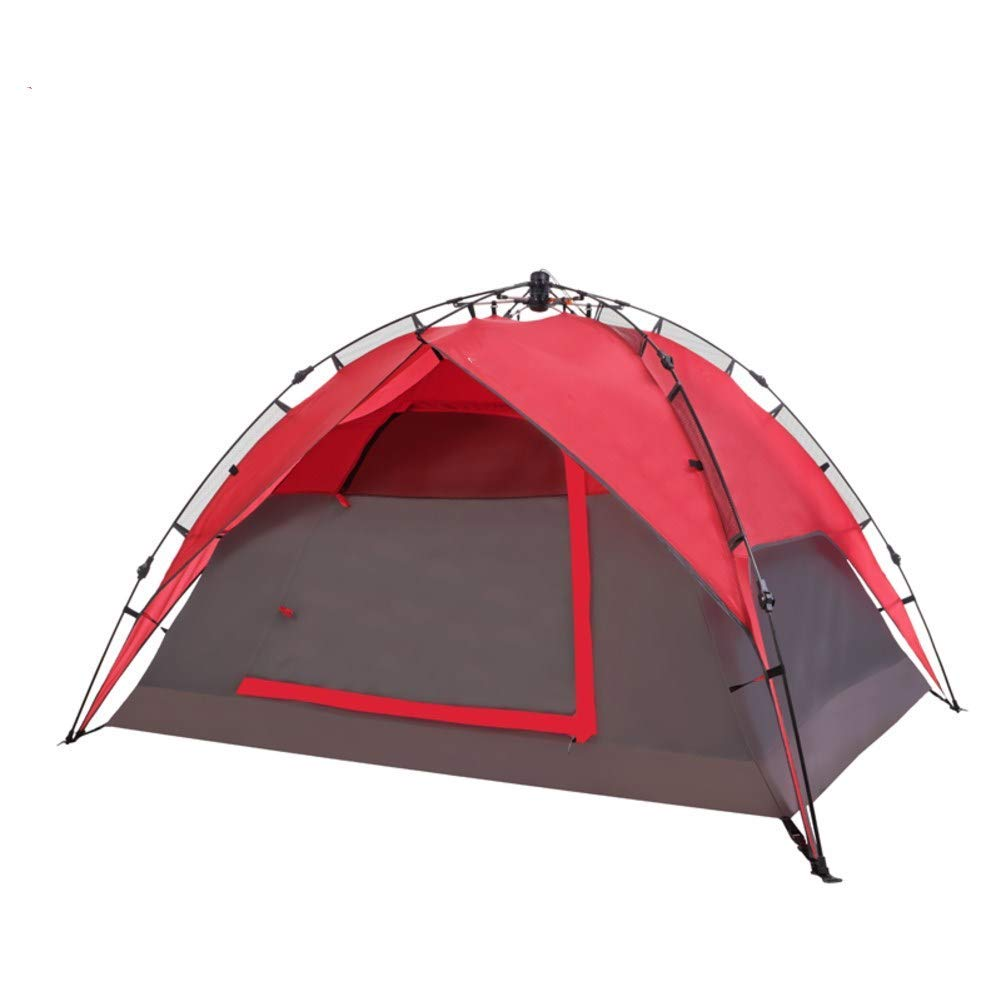 HUIYUE 3-4 People Outdoor Camping Tent,Automatic Tent,Windproof Tents,Family Camping Camping Equipment Rainproof Portable Tents-A 220x190x125cm(87x75x49inch)