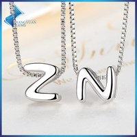 SCN024 DIY 925 Sterling Silver Alphabet Letter Charms