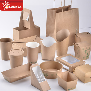 Custom logo printed disposable paper tableware